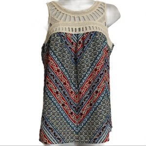 New Direction Petite Small crochet top